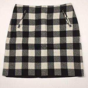 Talbots fully lined buffalo check pencil skirt 4p